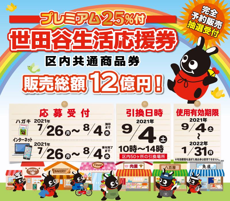 世田谷生活応援券(プレミアム25%付)